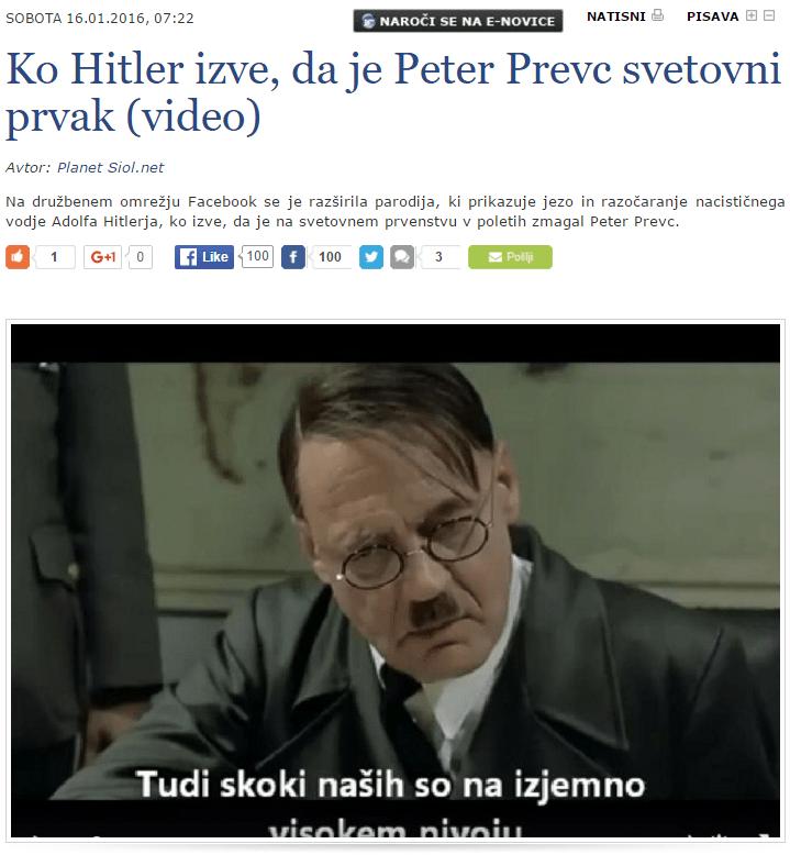 Hitler SIOL Prevc