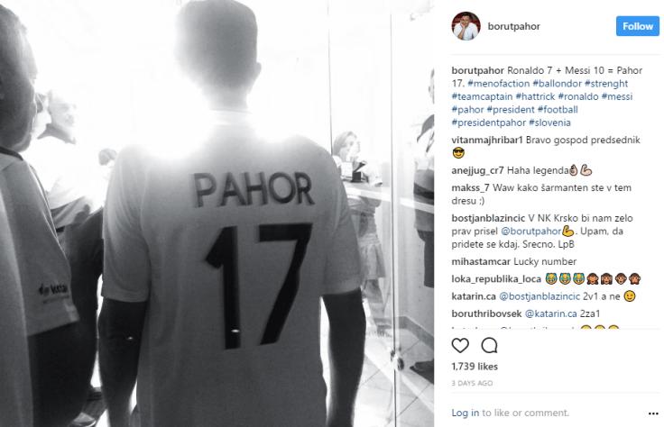 Pahor športnik Messi
