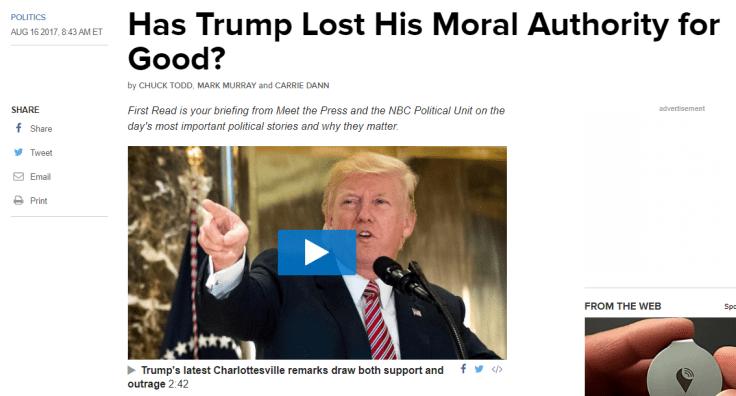 NBC News Trump moral authority