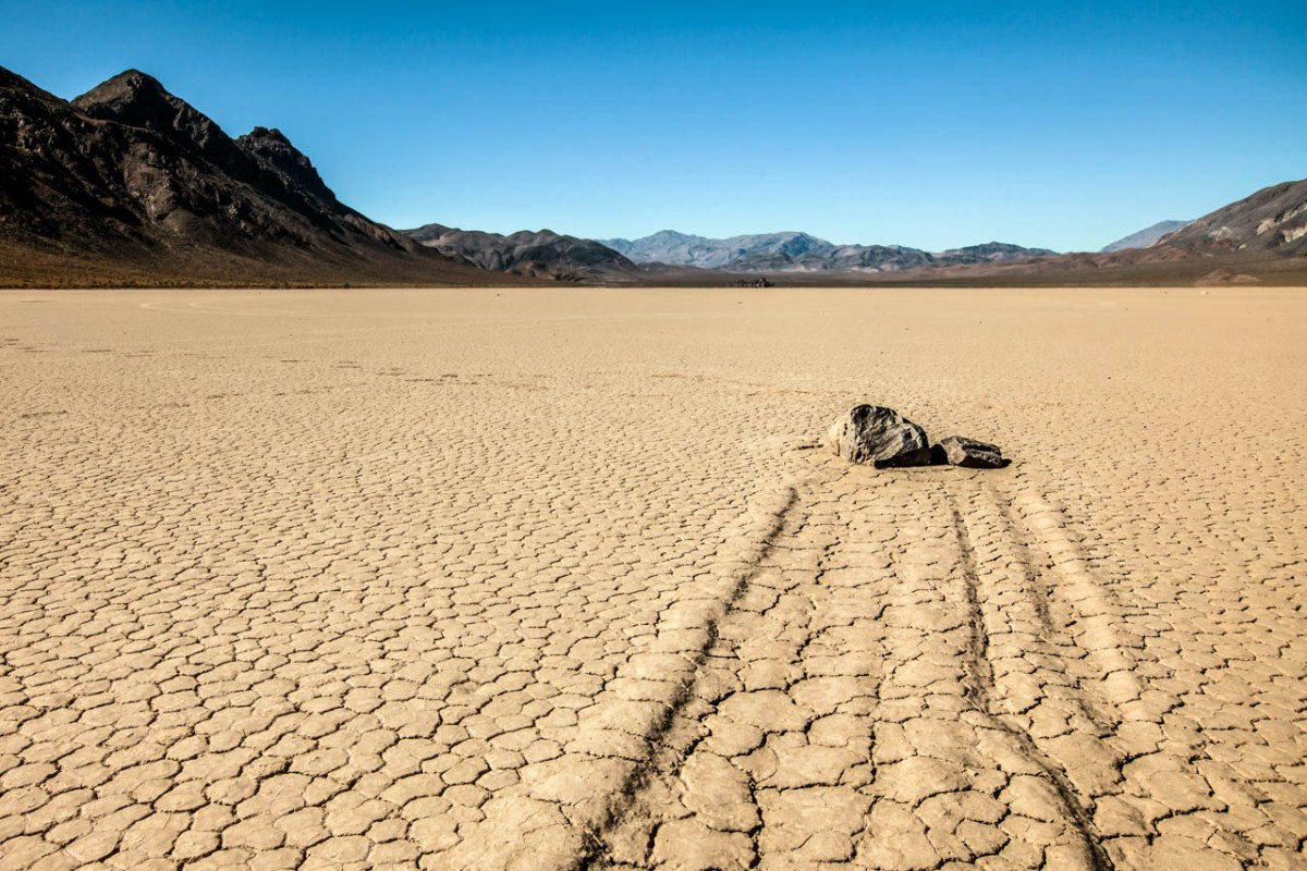 Death Valley National Park California Racetrack Playa Racing Rocks