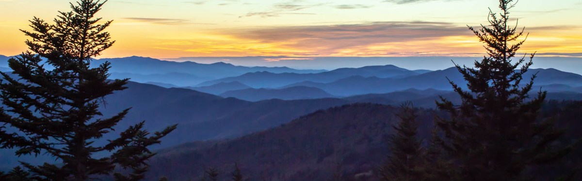 Clingmans Dome Sunset at Great Smoky Mountains National Park - Best Photo Spots #vezzaniphotography