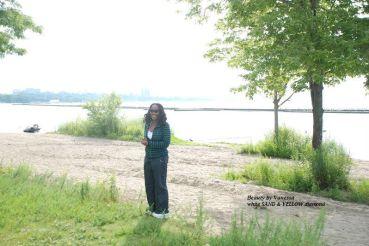 Vanessa enjoying nature