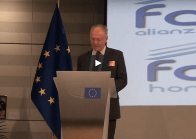 Mark McGreevy on the Famvin Homeless Alliance at the European Parliament [transcrito•transcrit]