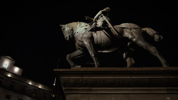 Horseman statue at Leeds Train Station 4K GH4