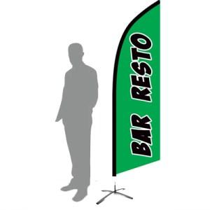 drapeau bar resto vert