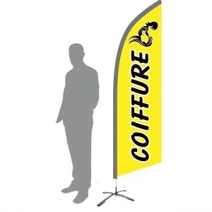drapeau coiffeur jaune