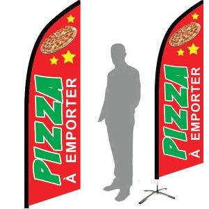 drapeau pizza à emporter