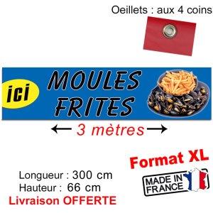 bache banderole moules frites