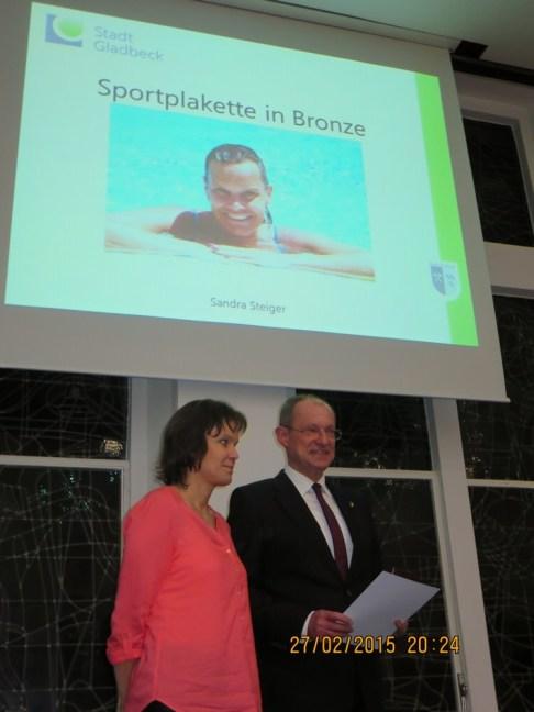 Sandra Steiger und Bürgermeister Ulrich Roland · Foto: Ralf Steiger