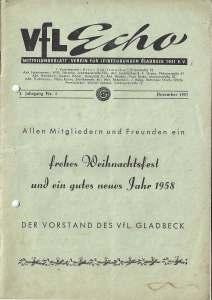 VfL-Echo Dezember 1957 Cover