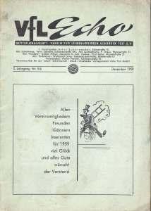VfL-Echo Dezember 1958 Cover