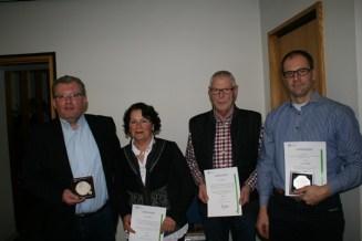 H.-J. Conrad, C. Oehmke, K. Küsgen, C. Bludau - Foto: Johannes Waschelewski