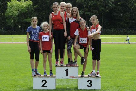 U14-Mädchen bei den Kreis-Mehrkamp-Meisterschaften