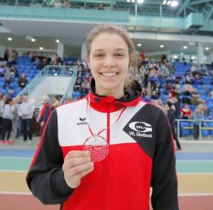 Anne Berger mit Medaille