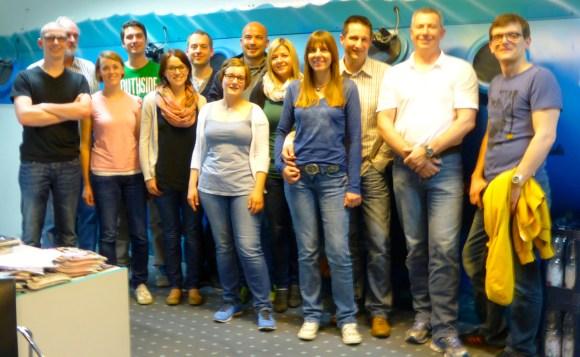 Die FTM/VfLer im Druckkammerzentrum Stuttgart.