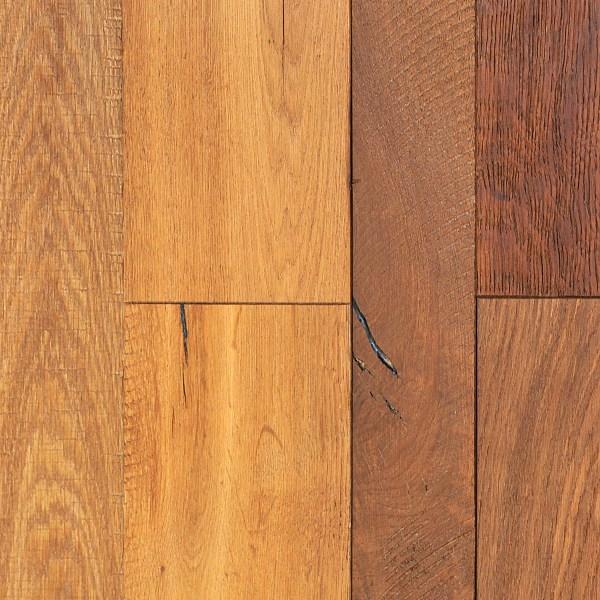 "Diamond W. Russian River Collection 5/8"" x (3 1/4"" - 4""- 6"") x 84"" Long Hardwood Flooring European White Oak in Guerneville Color-0"