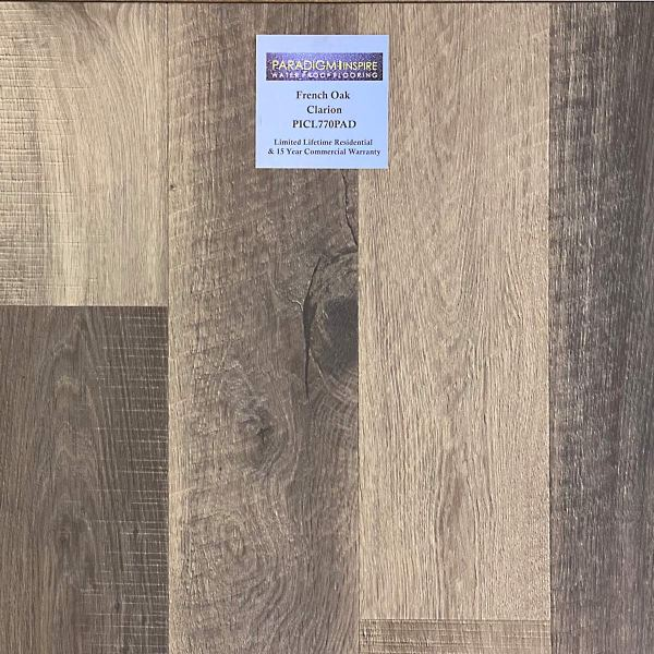 """Paradigm, French Oak Collection 0.335"""" x 6"""" x 49"""" WPC Vinyl Flooring French Oak in Clarion Color"""