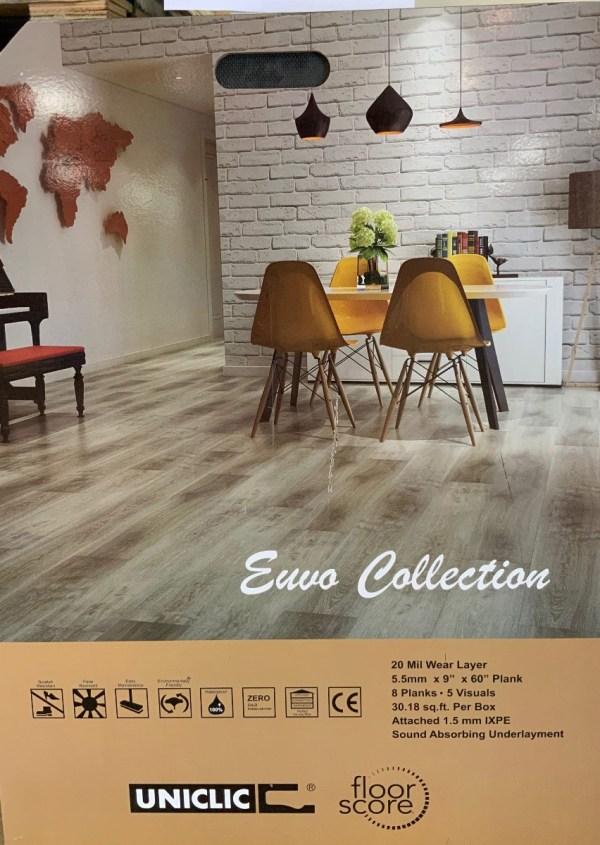 "SPC Flooring Pisa color, Euvo Collection 5"" x 9"" x 0.21"