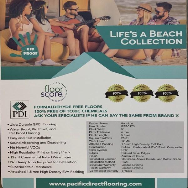 Honolulu SPC Flooring, Life's a Beach Collection, SDPC175 | VFO Flooring