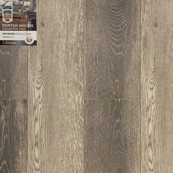 Republic Flooring, Porter Woods Collection- Laminate Flooring in Almond Cream Color   VFO Flooring
