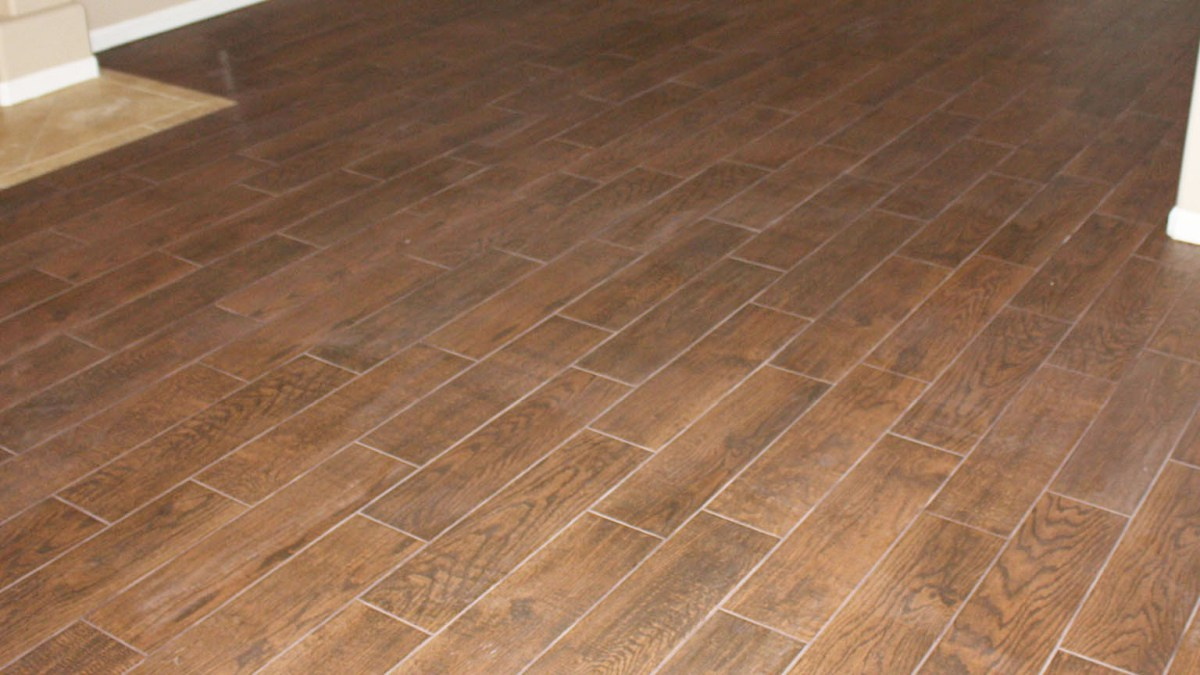 Wood Tile Floor in Granada Hills
