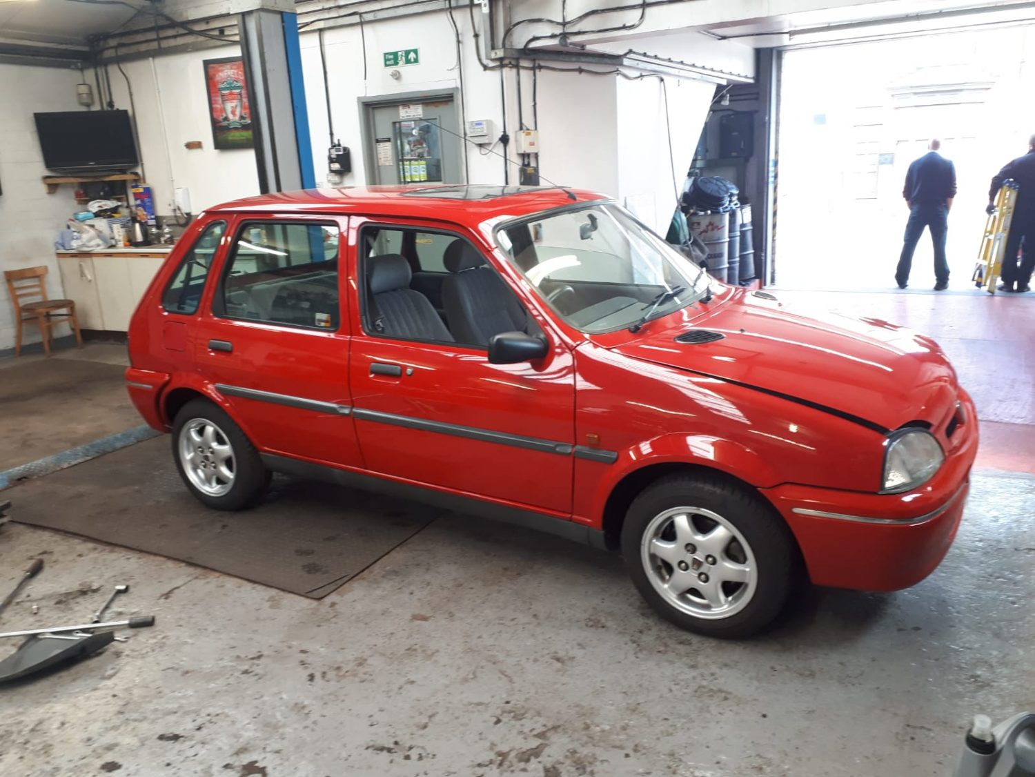 Richard's Mini Metro at the VFR Motors Garage in Leicester