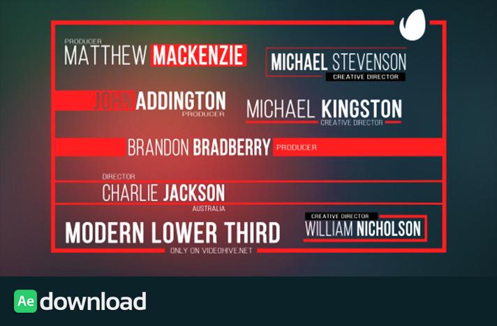 Modern Lower Third free download