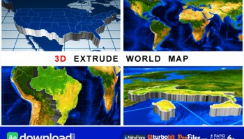 Videohive world map earth zoom free download free after 3d extrude world map videohive project free download gumiabroncs Image collections