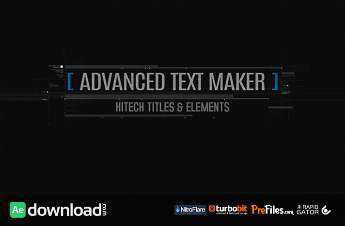 ADVANCED TEXT MAKER (VIDEOHIVE PROJECT) - FREE DOWNLOAD - Free After ...