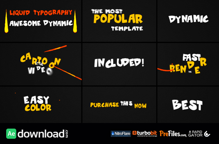 Dynamic Liquid Typography Free Download After Effects Templates