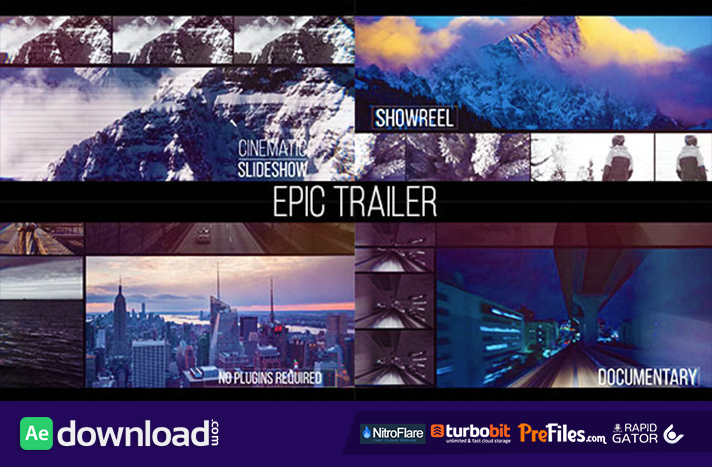 Epic Trailer Free Download After Effects Templates