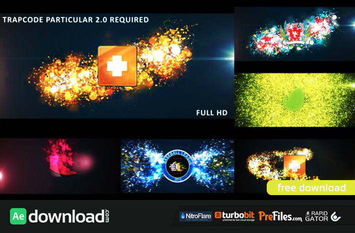 GLOWING PARTICLES LOGO REVEAL Free Download After Effects Templates