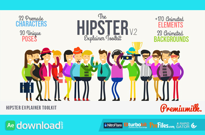 Hipster Explainer Toolkit Free Download After Effects Templates