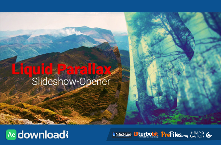 Liquid Parallax - Slideshow Opener Free Download After Effects Templates