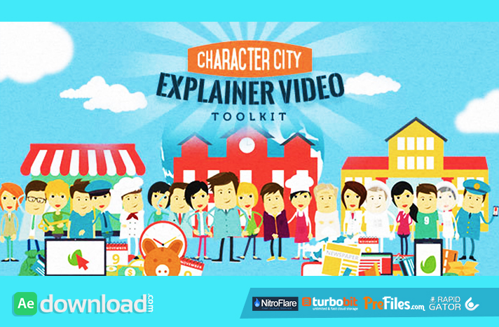 Mega Explainer toolkit Character city Free Download After