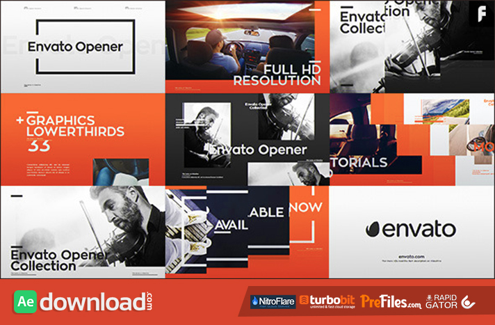 Modern Opener + 33 Lower Thirds Free Download After Effects Templates