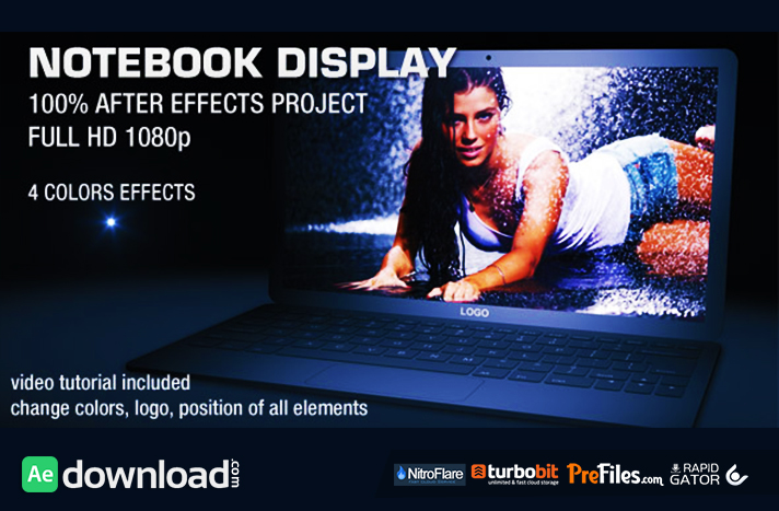 NOTEBOOK DISPLAY Free Download After Effects Templates
