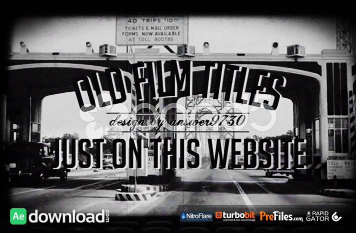 OLD FILM TITLES Free Download After Effects Templates