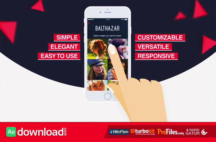 videohive phone app presentation template - free after effects, Powerpoint templates