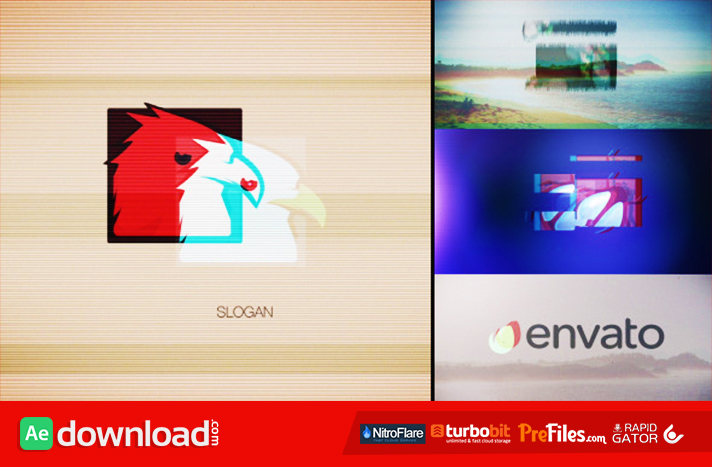 Quick Glitch Logo Pack Free Download After Effects Templates