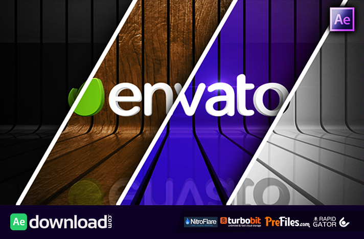 Ribbon Wall Logo Reveal Free Download After Effects Templates