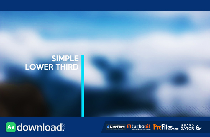 Simple Lower Third Free Download After Effects Templates