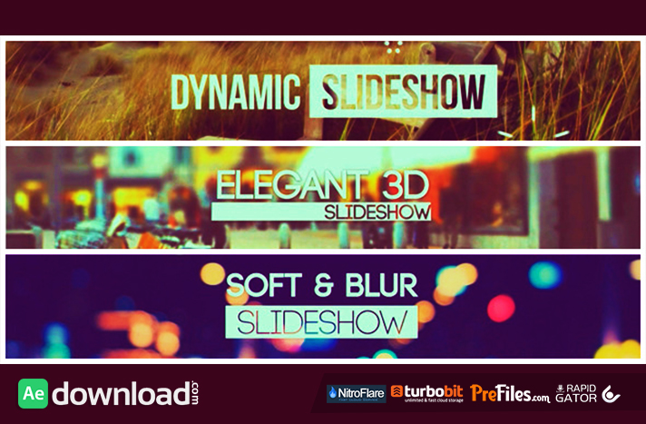 Slideshow Pack 3 in 1 Free Download After Effects Templates