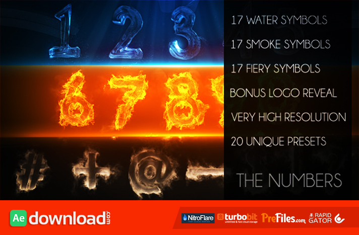 The Numbers Free Download After Effects Templates