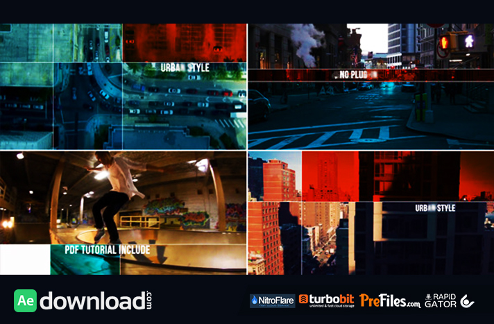 Urban Style Dynamic Opener Free Download After Effects Templates