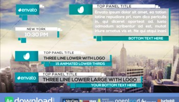 21 CLEAN LOWER THIRDS FREE DOWNLOAD VIDEOHIVE TEMPLATE