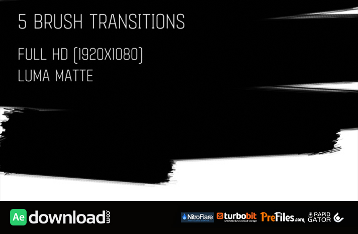 BRUSH TRANSITIONS PACK1 (VIDEOHIVE TEMPLATE) FREE DOWNLOAD