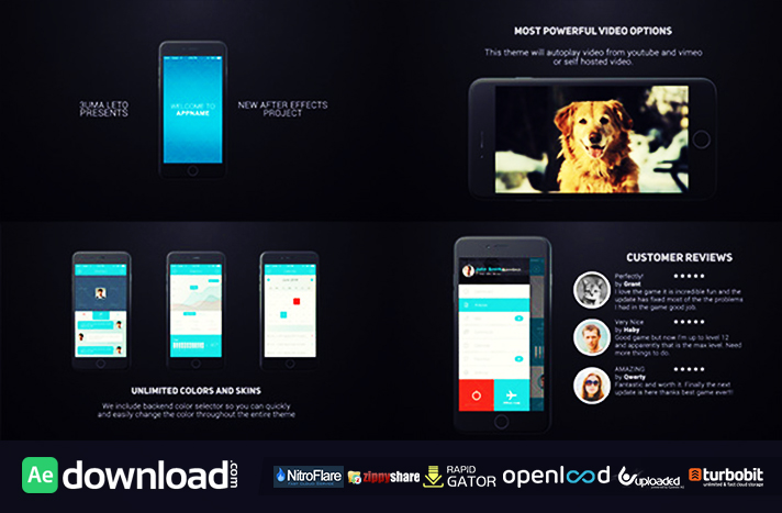 videohive phone app presentation template - free after effects, Presentation templates