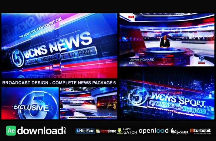 Broadcast Design Complete News Package Free Download