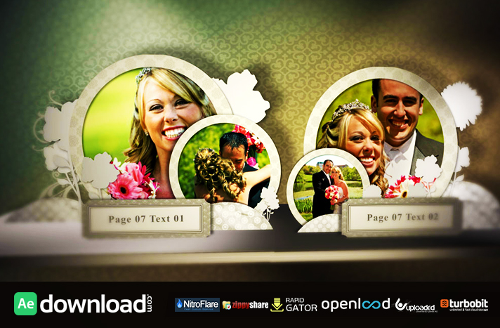 Wedding Pop Up Book After Effects Template